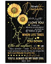 TO DAUGHTER - OLD SUNFLOWER - BABY GIRL 16x24 Poster front