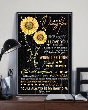 TO DAUGHTER - OLD SUNFLOWER - BABY GIRL 16x24 Poster lifestyle-poster-2