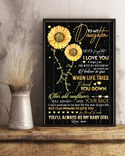 TO DAUGHTER - OLD SUNFLOWER - BABY GIRL 16x24 Poster lifestyle-poster-3