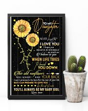TO DAUGHTER - OLD SUNFLOWER - BABY GIRL 16x24 Poster lifestyle-poster-8
