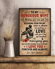 TO MY GORGEOUS WIFE 16x24 Poster lifestyle-poster-3