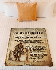 """To Daughter - Once Upon A Time There Was A Girl Small Fleece Blanket - 30"""" x 40"""" aos-coral-fleece-blanket-30x40-lifestyle-front-04"""