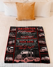 """To My Daughter - Love You For The Rest Of Mine  Small Fleece Blanket - 30"""" x 40"""" aos-coral-fleece-blanket-30x40-lifestyle-front-04"""