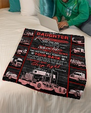 """To My Daughter - Love You For The Rest Of Mine  Small Fleece Blanket - 30"""" x 40"""" aos-coral-fleece-blanket-30x40-lifestyle-front-07"""