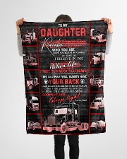 """To My Daughter - Love You For The Rest Of Mine  Small Fleece Blanket - 30"""" x 40"""" aos-coral-fleece-blanket-30x40-lifestyle-front-14"""