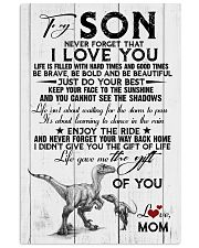 POSTER - TO MY SON - DINO - NEVER FORGET THAT 16x24 Poster front