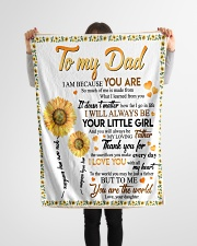 "FLEECE BLANKET - TO MY DAD - FATHER'S DAY Small Fleece Blanket - 30"" x 40"" aos-coral-fleece-blanket-30x40-lifestyle-front-14"