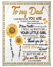 "FLEECE BLANKET - TO MY DAD - FATHER'S DAY Small Fleece Blanket - 30"" x 40"" front"