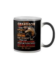 Grandpa to Grandson - This Old Dinosaur  Color Changing Mug tile