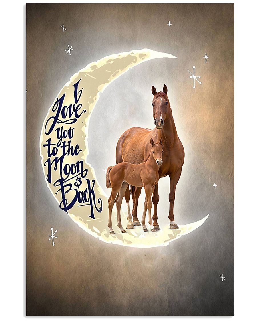 TO DAUGHTER - ANIMAL - I LOVE YOU TO THE MOON 16x24 Poster