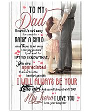 TO MY DAD - MY HERO 16x24 Poster front