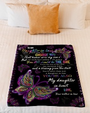 """To My Daughter-in-law - Butterfly - You Still  Small Fleece Blanket - 30"""" x 40"""" aos-coral-fleece-blanket-30x40-lifestyle-front-04"""