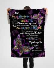 """To My Daughter-in-law - Butterfly - You Still  Small Fleece Blanket - 30"""" x 40"""" aos-coral-fleece-blanket-30x40-lifestyle-front-14"""