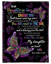 """To My Daughter-in-law - Butterfly - You Still  Small Fleece Blanket - 30"""" x 40"""" front"""