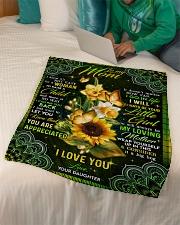 """To My Mom - Fleece Blanket Small Fleece Blanket - 30"""" x 40"""" aos-coral-fleece-blanket-30x40-lifestyle-front-07"""