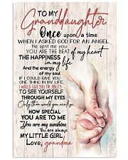 TO MY GRANDDAUGHTER - HANDS - GRANDMA 16x24 Poster front