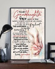 TO MY GRANDDAUGHTER - HANDS - GRANDMA 16x24 Poster lifestyle-poster-2