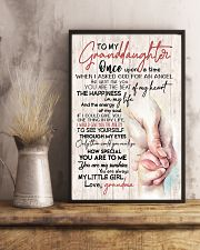 TO MY GRANDDAUGHTER - HANDS - GRANDMA 16x24 Poster lifestyle-poster-3
