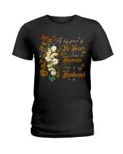 ANGEL HUSBAND - A BIG PIECE OF MY HEART Ladies T-Shirt thumbnail