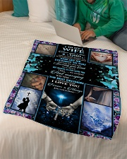 """To Wife - Once Upon A Time God Knew  Small Fleece Blanket - 30"""" x 40"""" aos-coral-fleece-blanket-30x40-lifestyle-front-07"""