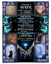 """To Wife - Once Upon A Time God Knew  Small Fleece Blanket - 30"""" x 40"""" front"""