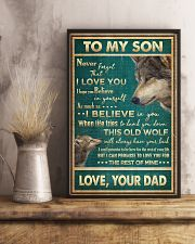 To My Son - Wolf - Never Forget That I Love You 16x24 Poster lifestyle-poster-3