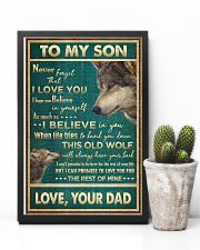 To My Son - Wolf - Never Forget That I Love You 16x24 Poster lifestyle-poster-8
