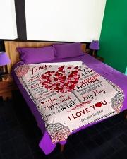 "To My Mom - Heart Tree - Fleece Blanket Large Fleece Blanket - 60"" x 80"" aos-coral-fleece-blanket-60x80-lifestyle-front-01"