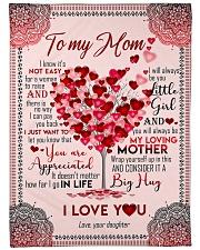 "To My Mom - Heart Tree - Fleece Blanket Large Fleece Blanket - 60"" x 80"" front"