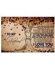 TO MY GIRLFRIEND 24x16 Poster front