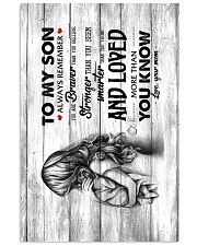 Mom To Son - Canvas Vertical Poster tile