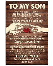 To My Son - You Are The Beat of My Heart - Poster 16x24 Poster front