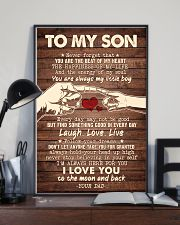 To My Son - You Are The Beat of My Heart - Poster 16x24 Poster lifestyle-poster-2