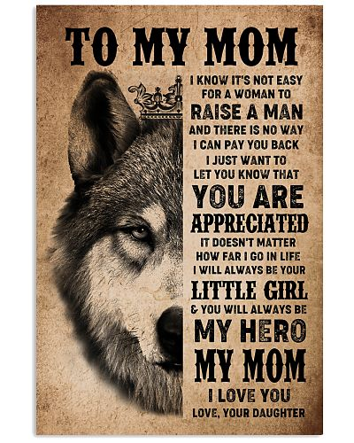POSTER - TO MY MOM - I LOVE YOU