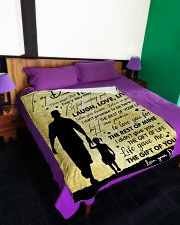 """To My Daughter - Everyday MAy Not Be Good Large Fleece Blanket - 60"""" x 80"""" aos-coral-fleece-blanket-60x80-lifestyle-front-01"""