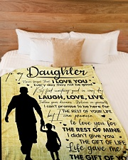 """To My Daughter - Everyday MAy Not Be Good Large Fleece Blanket - 60"""" x 80"""" aos-coral-fleece-blanket-60x80-lifestyle-front-02"""