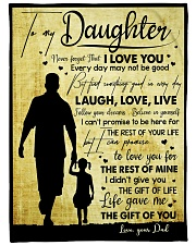 """To My Daughter - Everyday MAy Not Be Good Large Fleece Blanket - 60"""" x 80"""" front"""