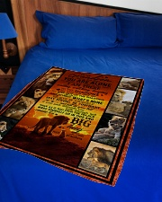 """To Grandson - Never Feel That You Are Alone  Small Fleece Blanket - 30"""" x 40"""" aos-coral-fleece-blanket-30x40-lifestyle-front-02"""