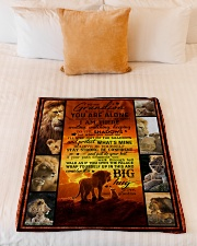 """To Grandson - Never Feel That You Are Alone  Small Fleece Blanket - 30"""" x 40"""" aos-coral-fleece-blanket-30x40-lifestyle-front-04"""
