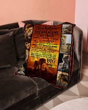 """To Grandson - Never Feel That You Are Alone  Small Fleece Blanket - 30"""" x 40"""" aos-coral-fleece-blanket-30x40-lifestyle-front-05"""