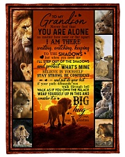 """To Grandson - Never Feel That You Are Alone  Small Fleece Blanket - 30"""" x 40"""" front"""