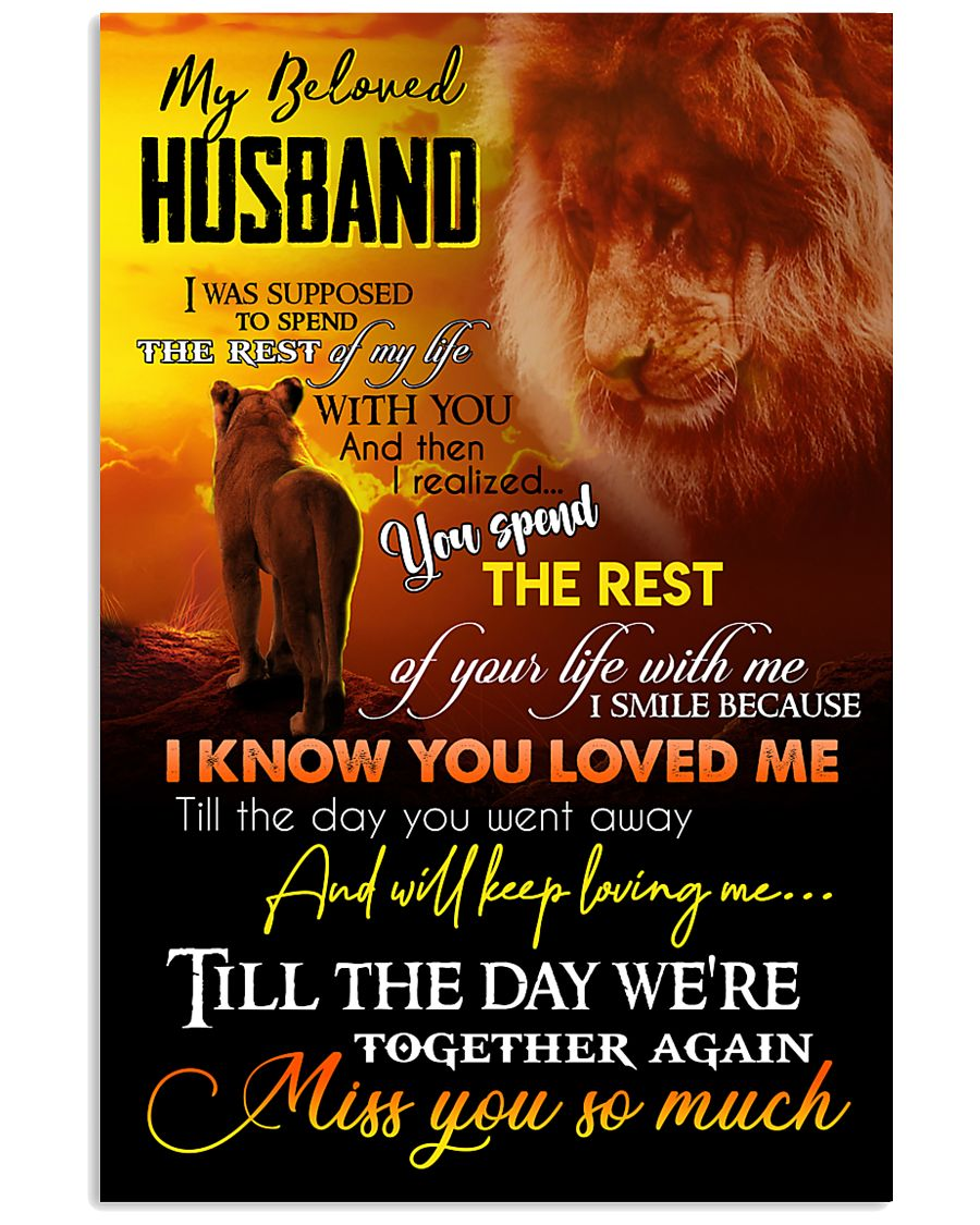 MY ANGEL HUSBAND - LION - MISS YOU 16x24 Poster