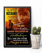 MY ANGEL HUSBAND - LION - MISS YOU 16x24 Poster lifestyle-poster-8