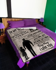 """To My Dad - You Are Appreciated - Fleece Blanket Large Fleece Blanket - 60"""" x 80"""" aos-coral-fleece-blanket-60x80-lifestyle-front-01"""