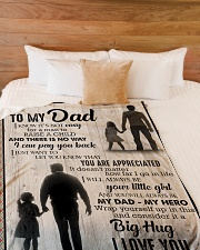 """To My Dad - You Are Appreciated - Fleece Blanket Large Fleece Blanket - 60"""" x 80"""" aos-coral-fleece-blanket-60x80-lifestyle-front-02"""