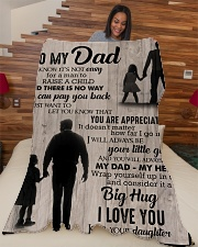 """To My Dad - You Are Appreciated - Fleece Blanket Large Fleece Blanket - 60"""" x 80"""" aos-coral-fleece-blanket-60x80-lifestyle-front-04"""