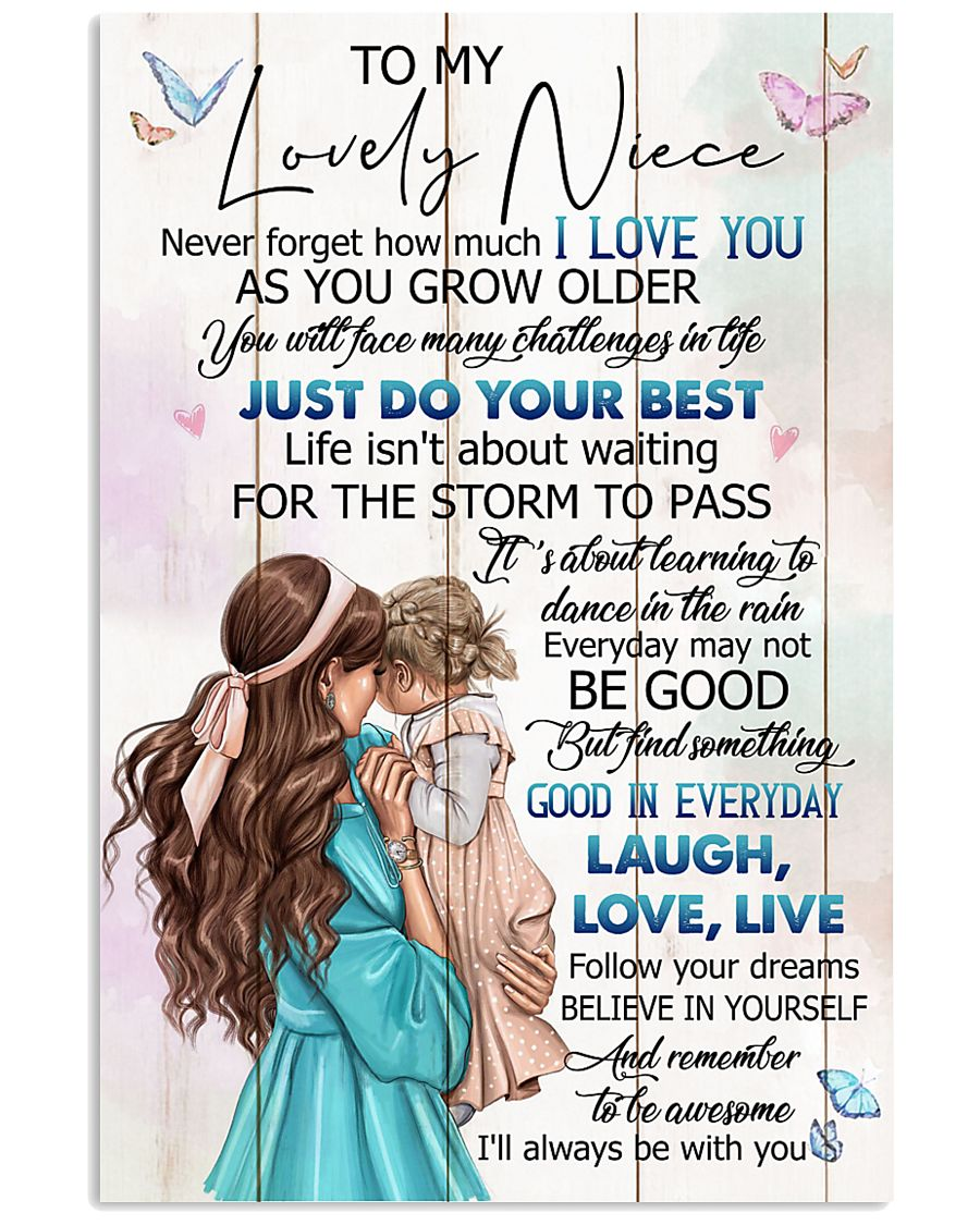 TO MY NIECE - GIRLS - I LOVE YOU 16x24 Poster