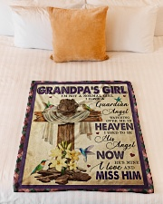 """Angel - Grandpa - I'm Not A Normal Girl  Small Fleece Blanket - 30"""" x 40"""" aos-coral-fleece-blanket-30x40-lifestyle-front-04"""
