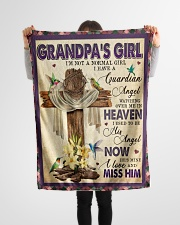 """Angel - Grandpa - I'm Not A Normal Girl  Small Fleece Blanket - 30"""" x 40"""" aos-coral-fleece-blanket-30x40-lifestyle-front-14"""