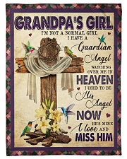 """Angel - Grandpa - I'm Not A Normal Girl  Small Fleece Blanket - 30"""" x 40"""" front"""